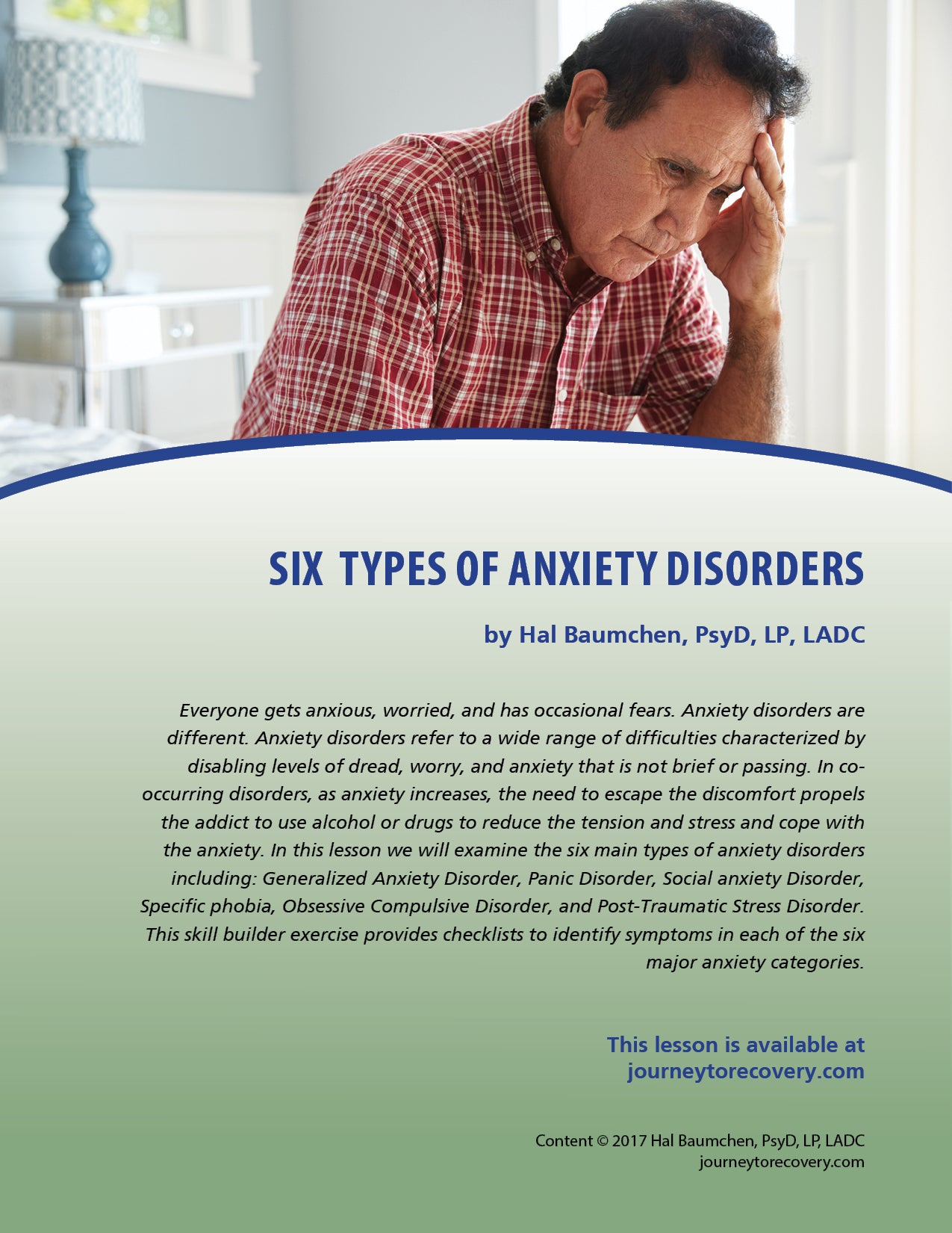 Six Types of Anxiety Disorders