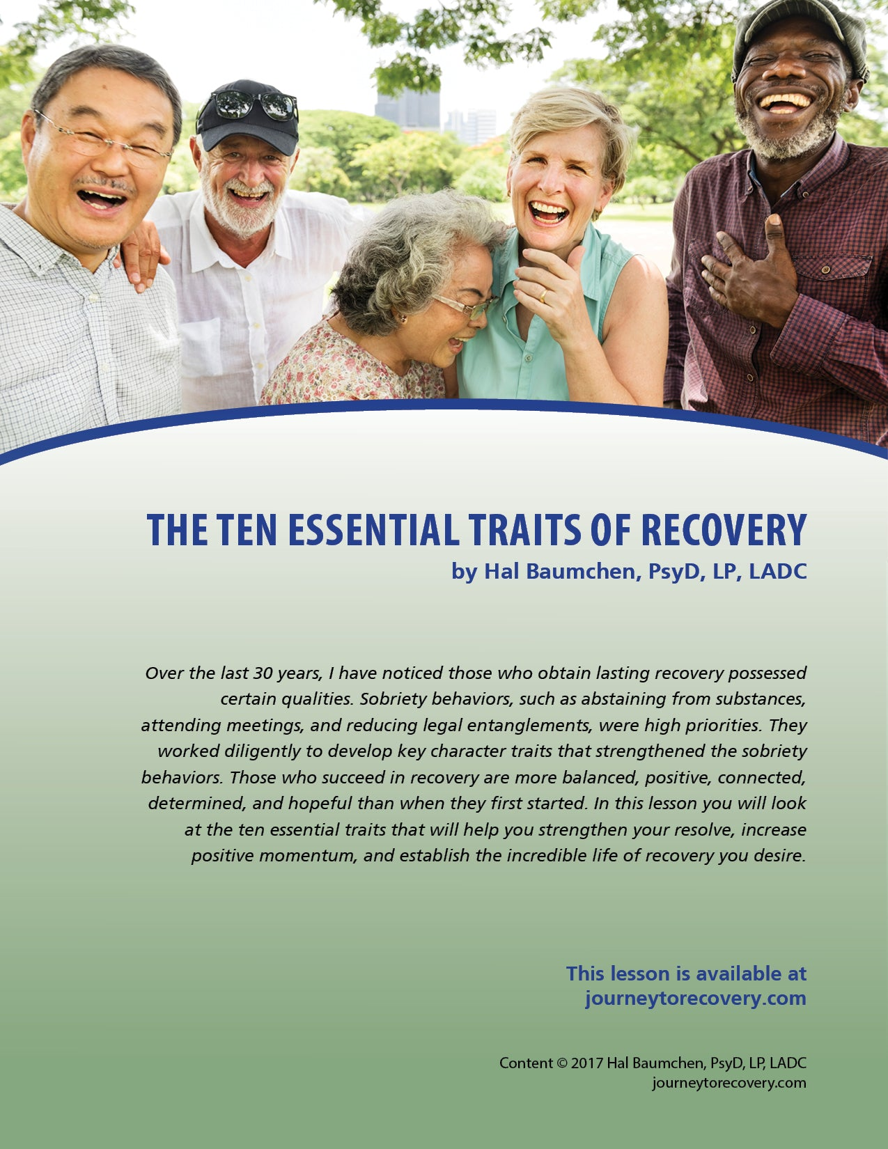 The Ten Essential Traits of Recovery
