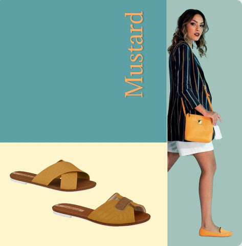 Mustard shoes