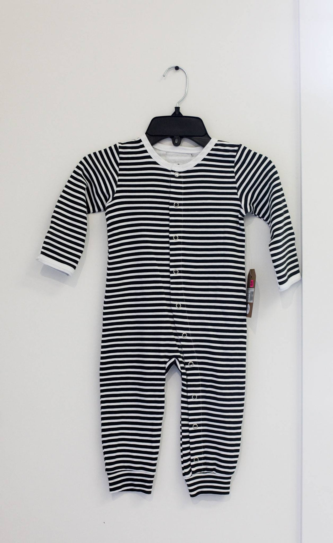 Modern Burlap Striped Coverall