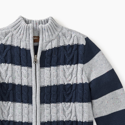 Tea Collection Zip Cardigan