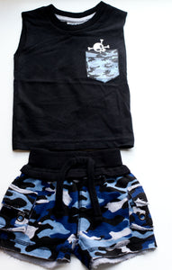 Mish Boys Camo Short Set