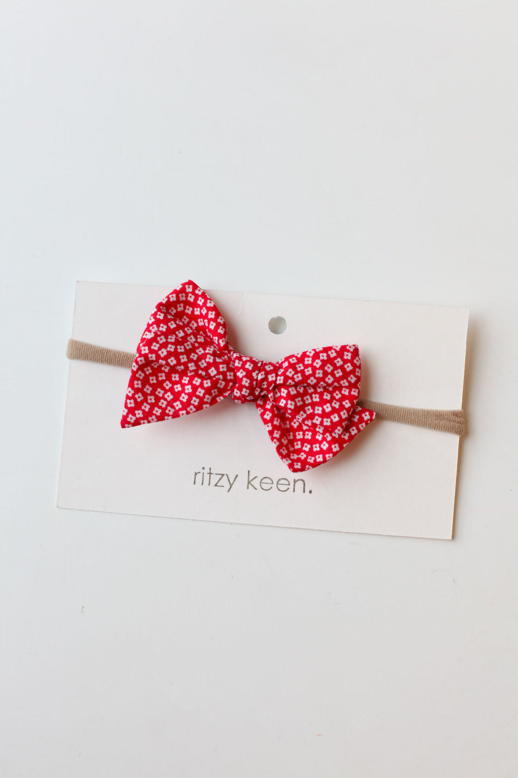 Ritzy Keen Red Wildflower Bow Headband