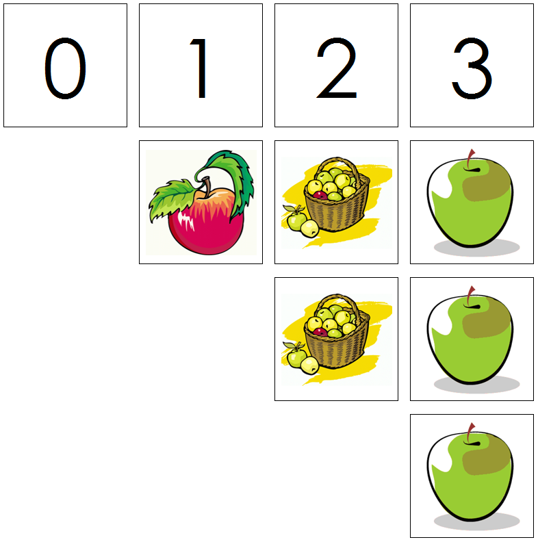 apple numbers & counters - Montessori Print Shop