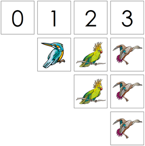 bird numbers & counters - Montessori Print Shop