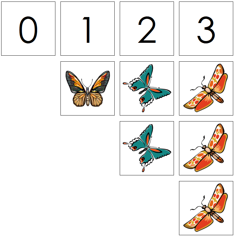 butterfly numbers & counters - Montessori Print Shop