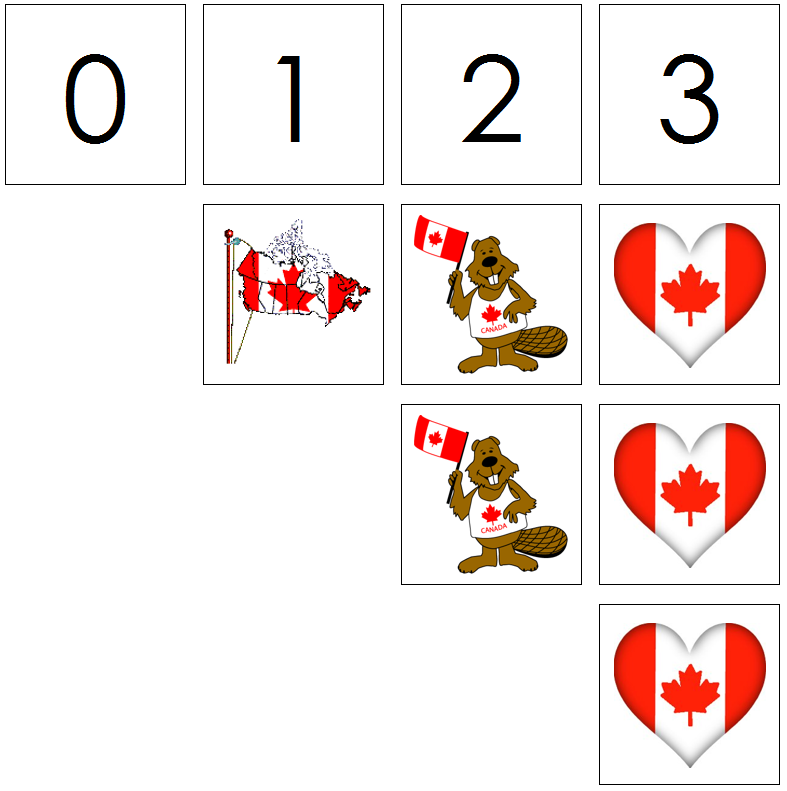 canada day numbers & counters - Montessori Print Shop