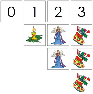 christmas numbers & counters - Montessori Print Shop