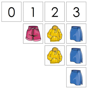 Number Cards & Clothing Counters - Montessori Print Shop Math