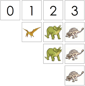 dinosaur numbers & counters - Montessori Print Shop