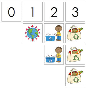 Number Cards & Earth Day Counters - Montessori Print Shop Math