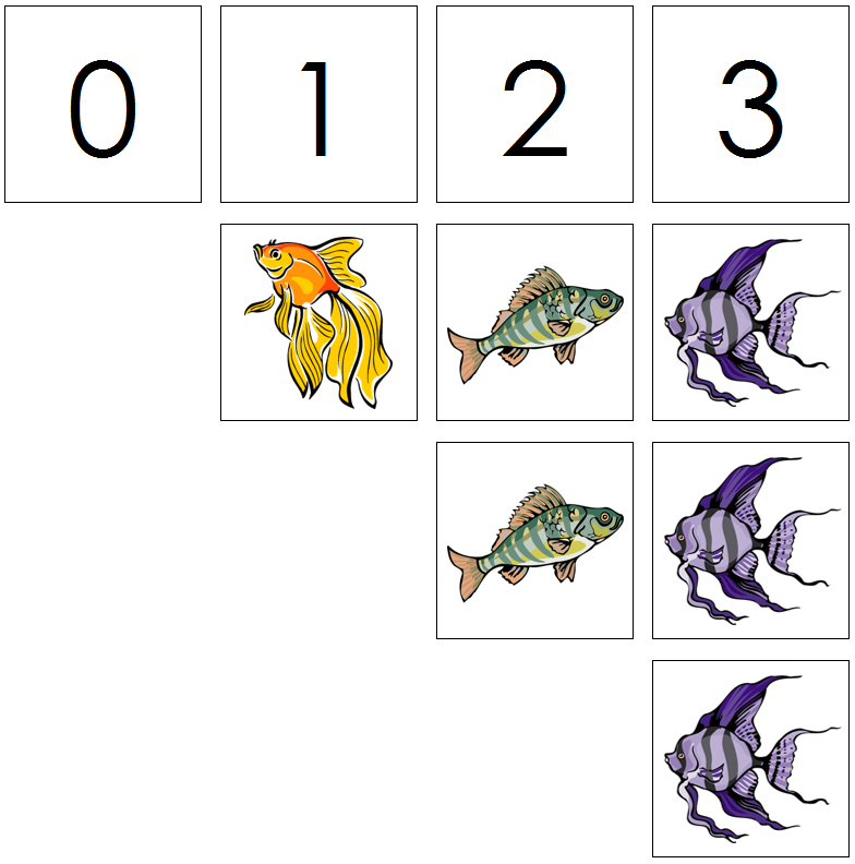 fish numbers & counters - Montessori Print Shop
