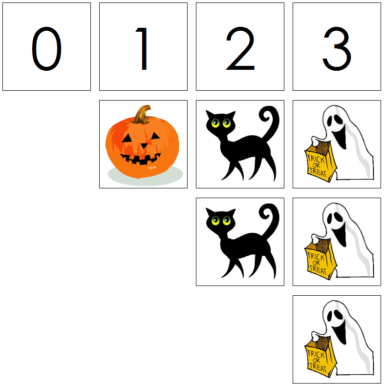 Halloween numbers & counters - Montessori Print Shop