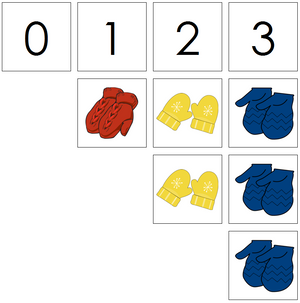 mitten numbers & counters - Montessori Print Shop