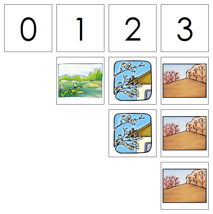 Number Cards & Nature Counters - Montessori Print Shop Math