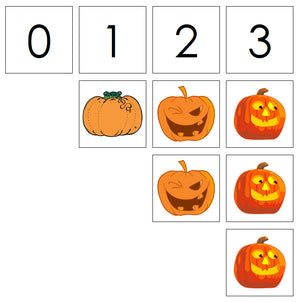 Number Cards & Pumpkin Counters - Montessori Print Shop Math