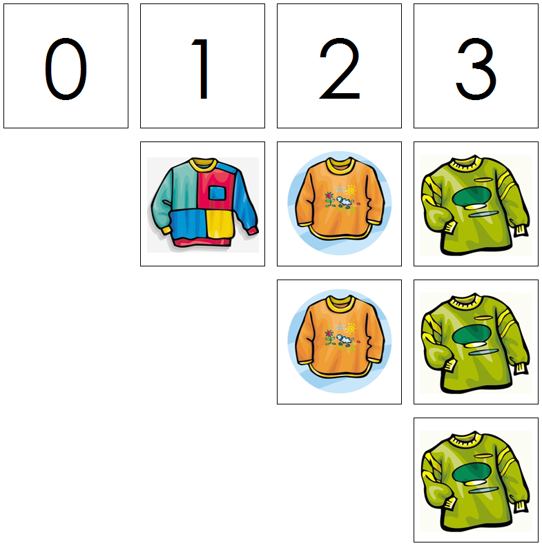 shirt numbers & counters - Montessori Print Shop