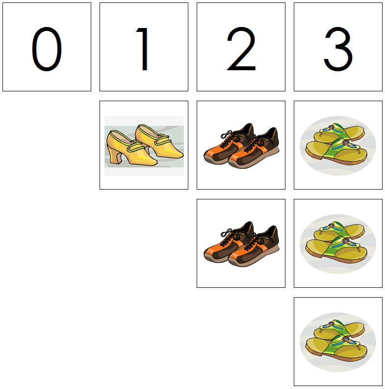 shoe numbers & counters - Montessori Print Shop