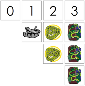 snake numbers & counters - Montessori Print Shop