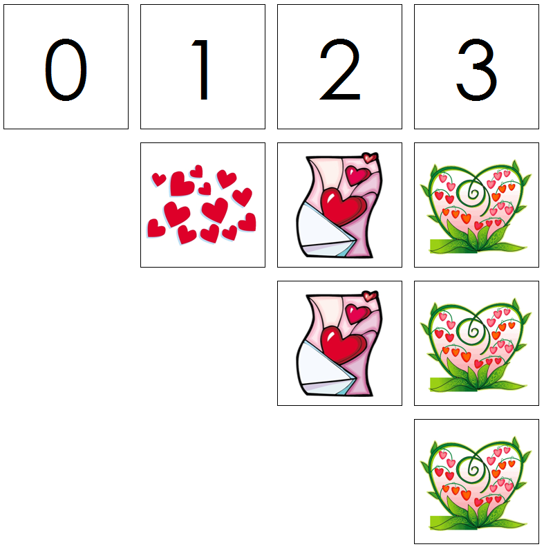 valentine's day numbers & counters - Montessori Print Shop