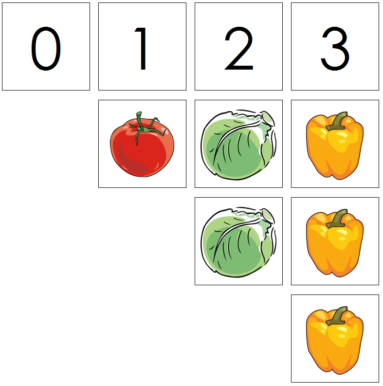 vegetable numbers & counters - Montessori Print Shop