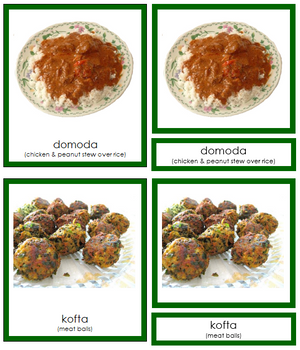 African Food (color-coded) - Montessori Print Shop