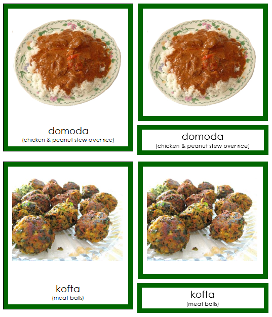 African Food (color-coded)
