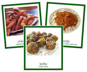 African food (color) - Montessori Geography Materials