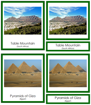 African Landmarks (color-coded) - Montessori Print Shop