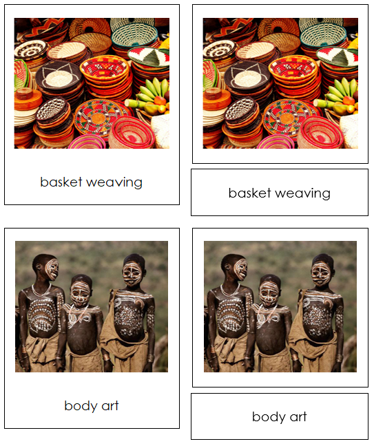 African Culture - Montessori geography cards