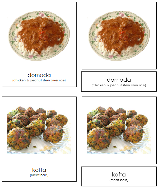 African Food - Montessori geography materials