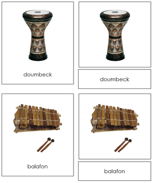 African Musical Instruments - Montessori Print Shop
