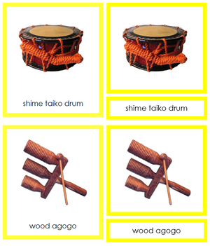 Asian Musical Instruments (color-coded) - Montessori Print Shop