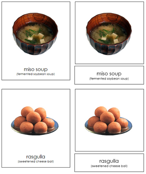 Asian Food - Montessori Print Shop