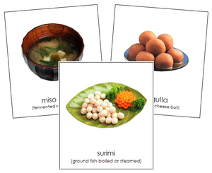Asian Food - Montessori geography cards