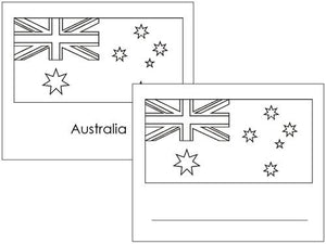 Australian Flags: Outlines - Montessori geography materials