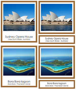 Australian/Oceanian Landmarks (color-coded) - Montessori Print Shop