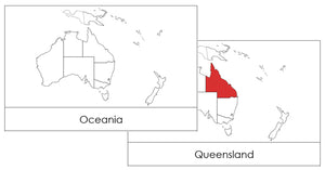 Australia/Oceania Flashcards - Montessori Print Shop