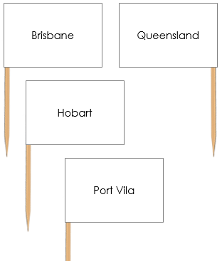 Australian Capital Cities Pin Flags - Montessori geography materials
