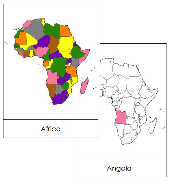 Africa Flash Cards - Montessori geography cards