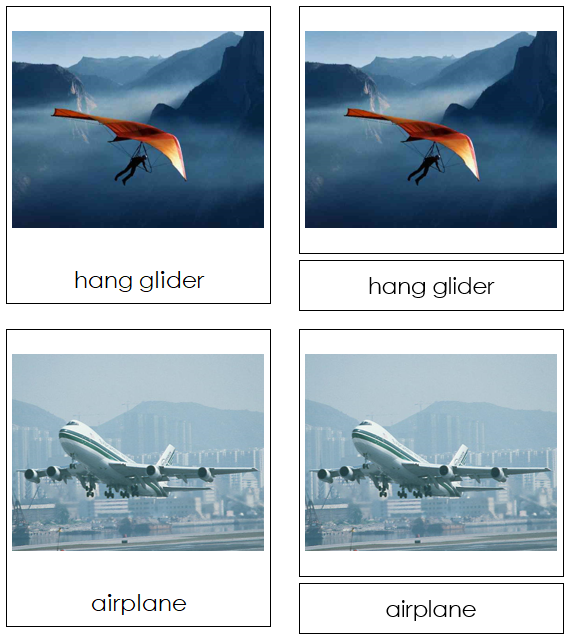 Air Transportation Cards - Montessori Print Shop