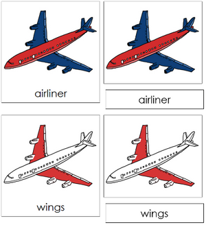 Airliner Nomenclature Cards - Montessori