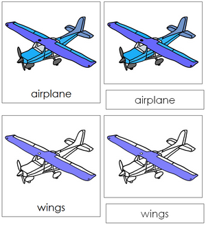 Airplane Nomenclature 3-Part Cards - Montessori Print Shop