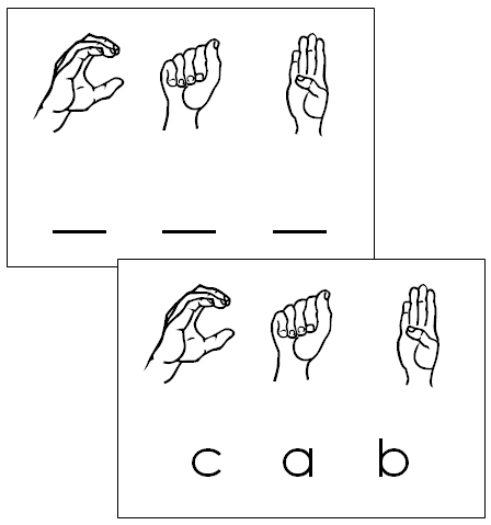 american sign language words - Montessori Print Shop