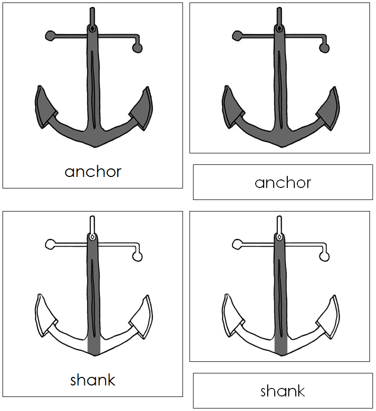 Anchor Nomenclature Cards - Montessori Print Shop