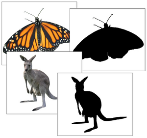 Silhouette Cards: Animals - preschool Montessori cards