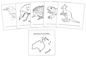 Animals of the Continents Blackline Masters - Montessori Print Shop Geography