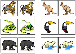 animal match-up & memory game - Montessori Print Shop