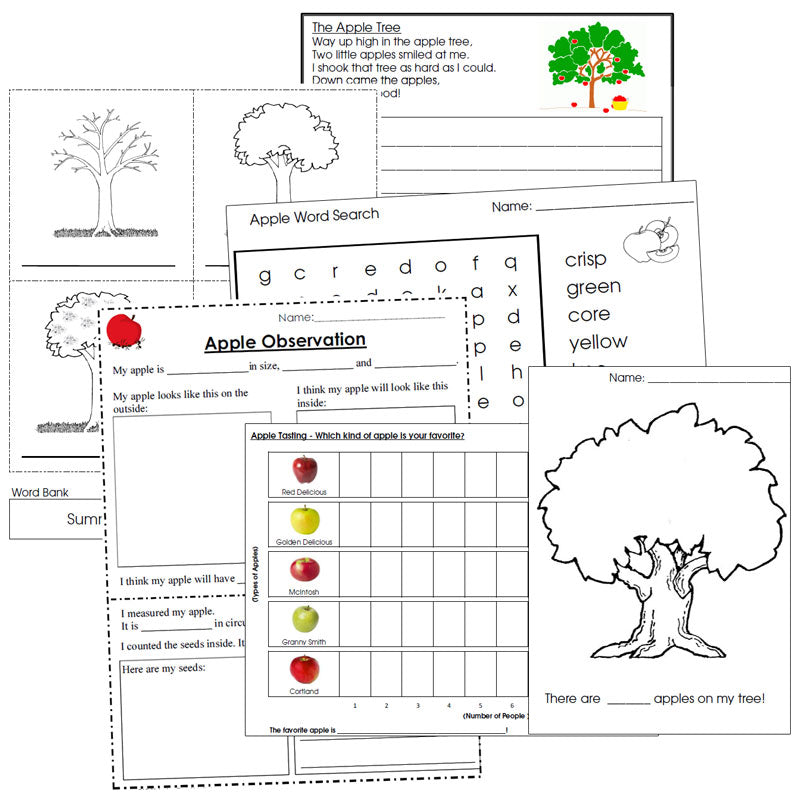Apple Unit Starter - Montessori Print Shop