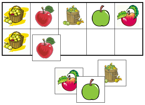 Apple Match-Up & Memory Game - Montessori Print Shop